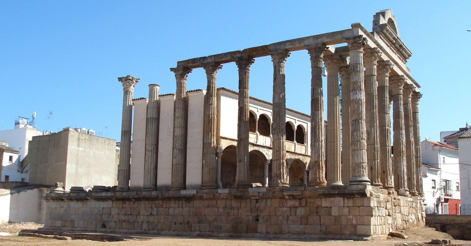 Templo de Diana. Mérida, Badajoz.
