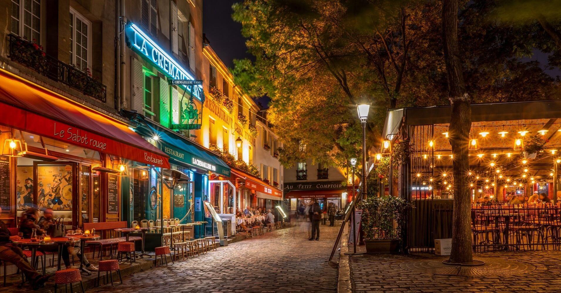 Terrazas y Restaurantes de París. Francia.