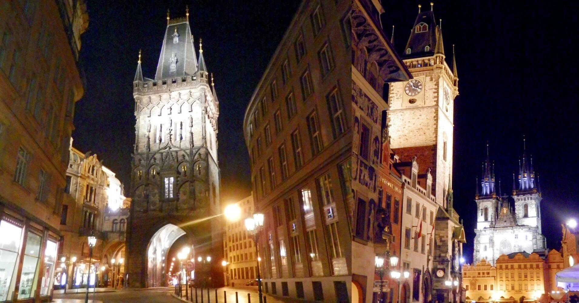 Torre de la Polvora y Stare Mesto. Praga. República Checa.