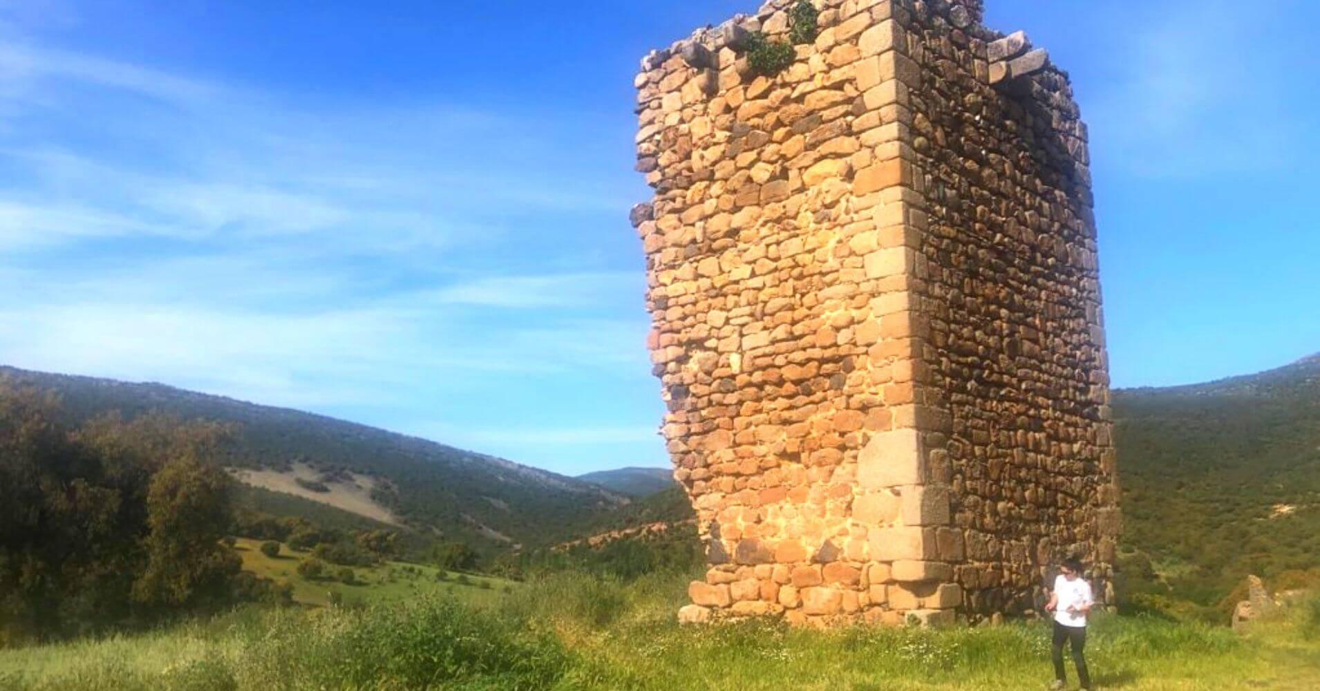 Torre del Yacimiento Arqueológico de Malamoneda. Hontanar, Toledo. Castilla La Mancha.