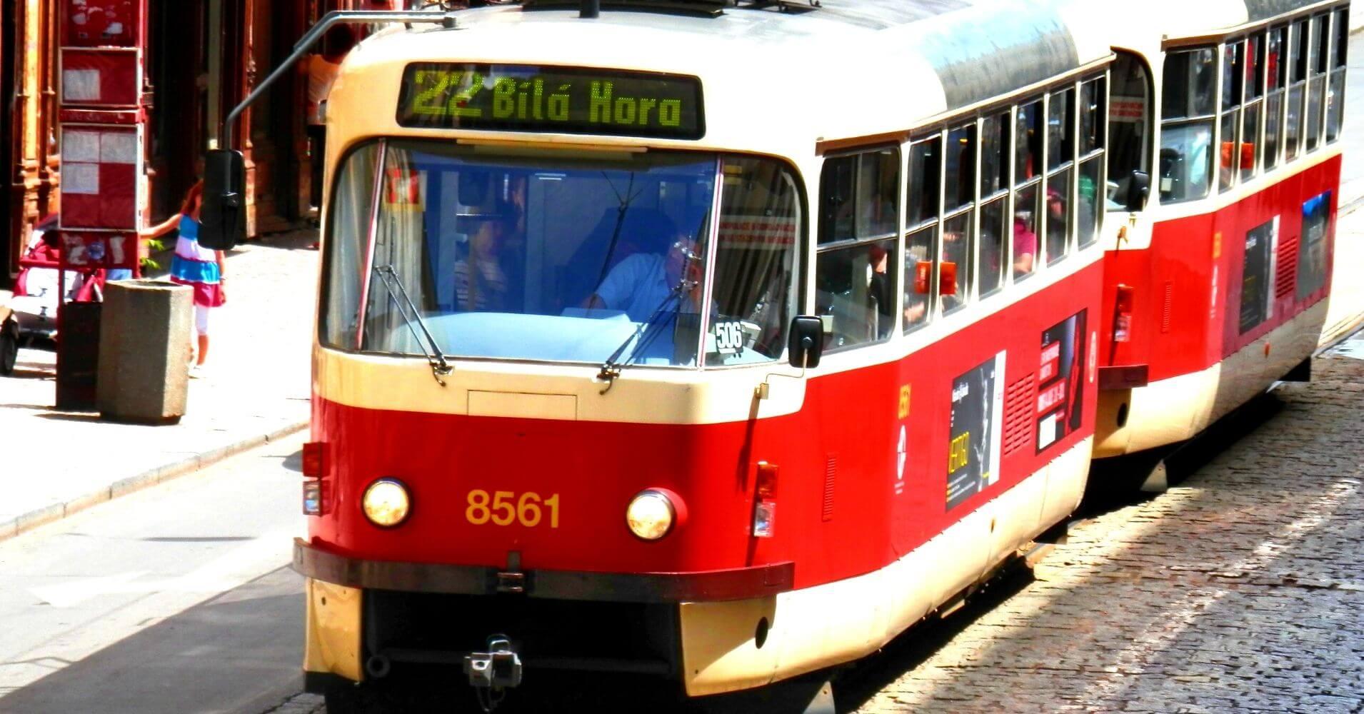 Tranvía de Praga. República Checa.