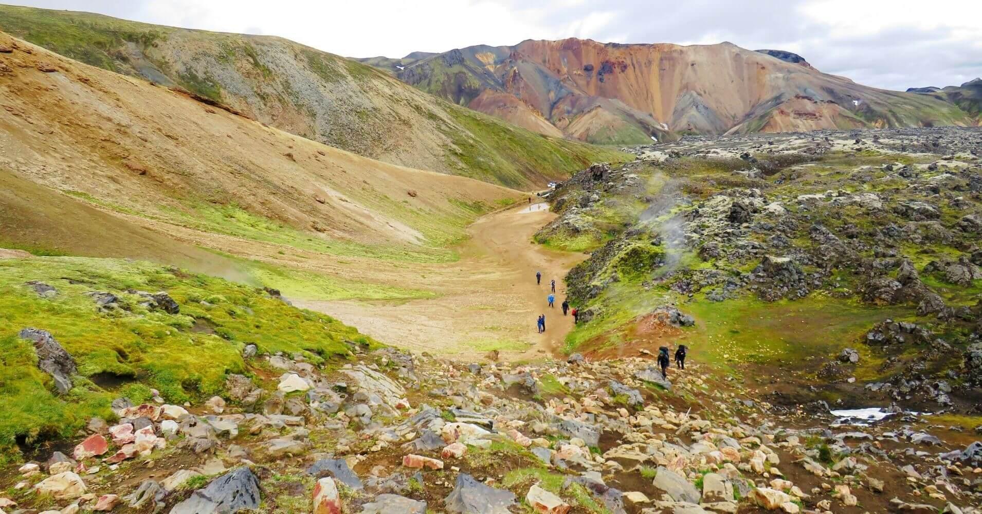 Trekking en Landmannalaugar Tierras Altas de Islandia.
