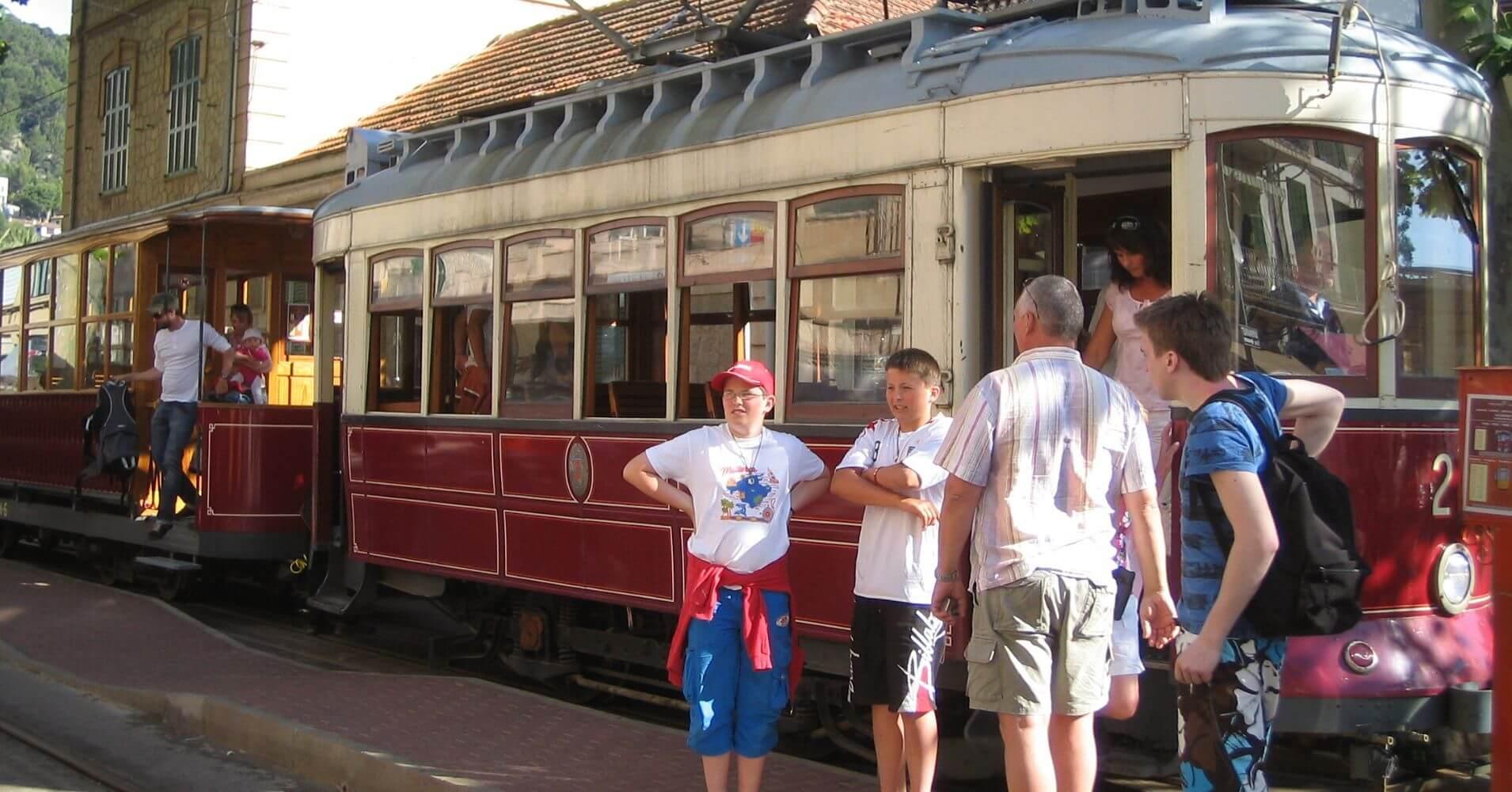Tren de Soller. Isla de Palma de Mallorca.
