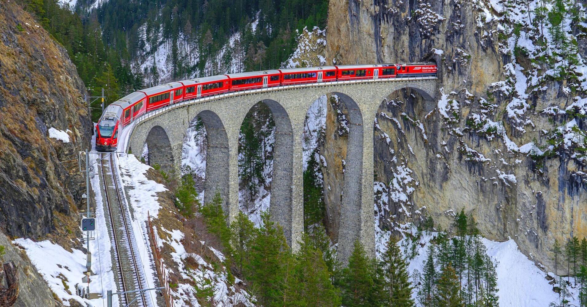 Tren Glacier Express. Suiza.