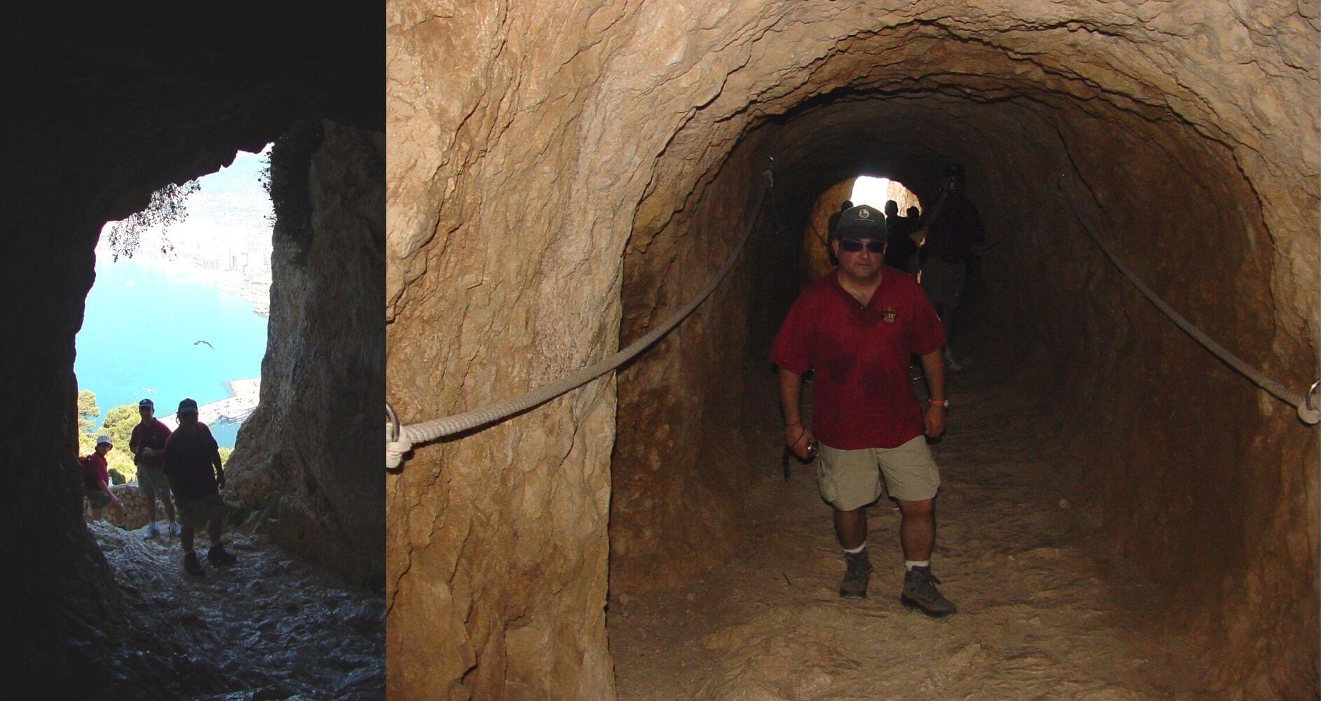 Túnel subida al Peñón de Ifach. Calpe, Alicante. Comunidad Valenciana.