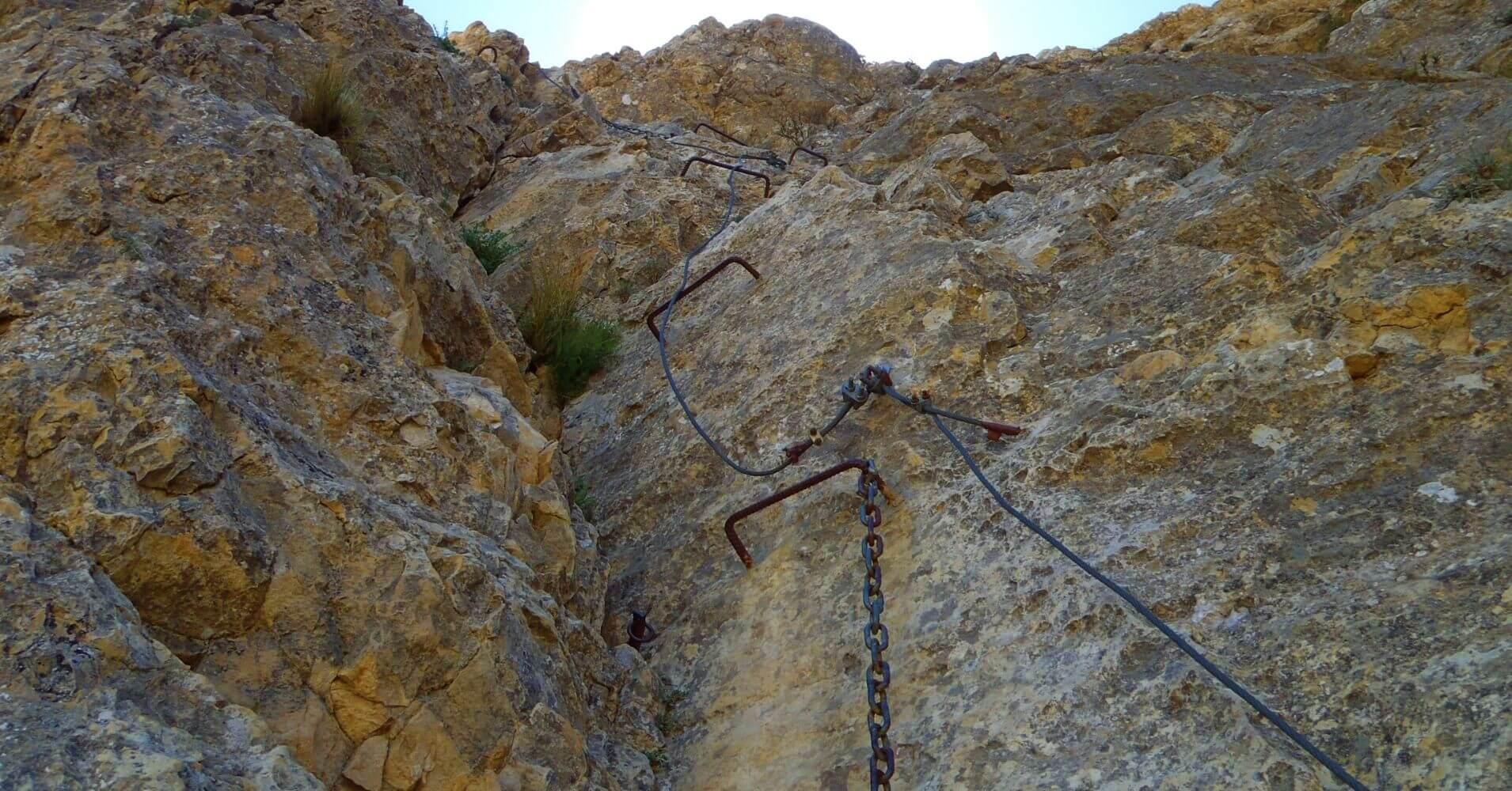 Vertical Vía Ferrata Norte del Cid. Petrer, Alicante. Comunidad Valenciana.