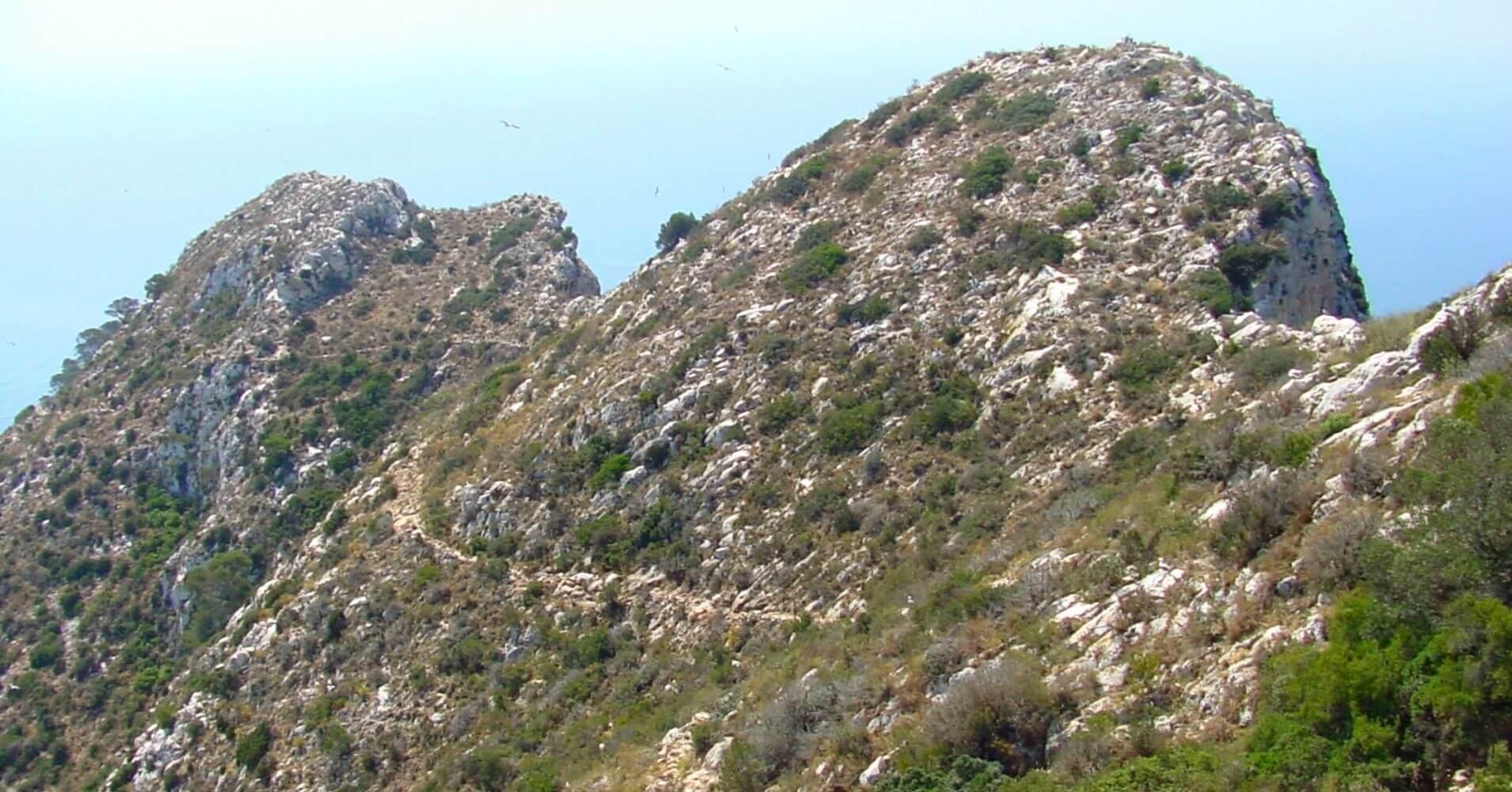 Vertiente de Levante. Mirador Carabineros. Calpe, Alicante. Comunidad Valenciana.