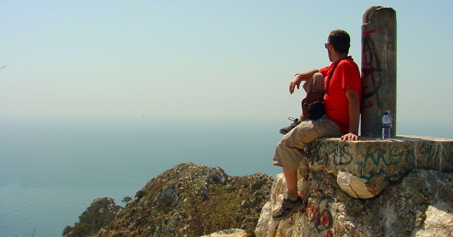 Vértice Geodésico de la Cumbre del Peñón de Ifach. Calpe, Alicante. Comunidad Valenciana.