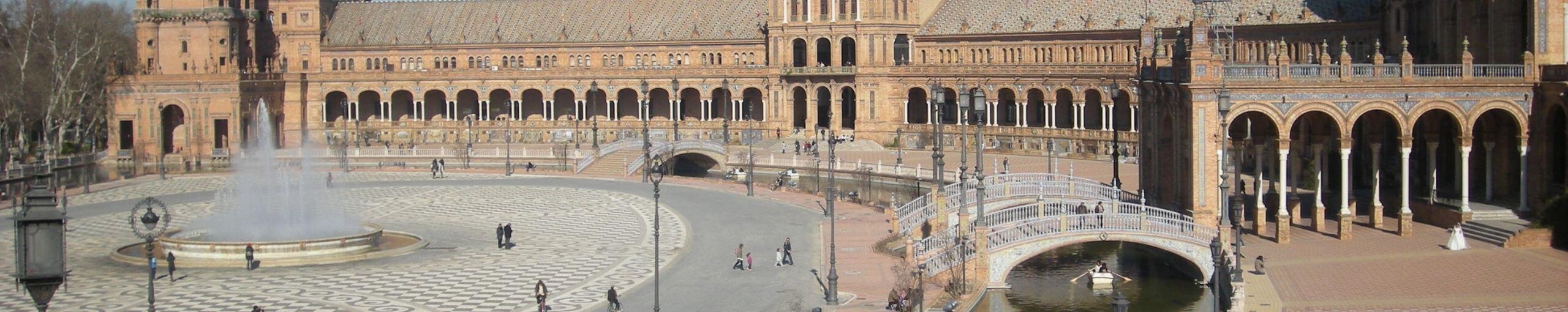 Viajar a Andalucía. Plaza de España, Sevilla. Andalucía.