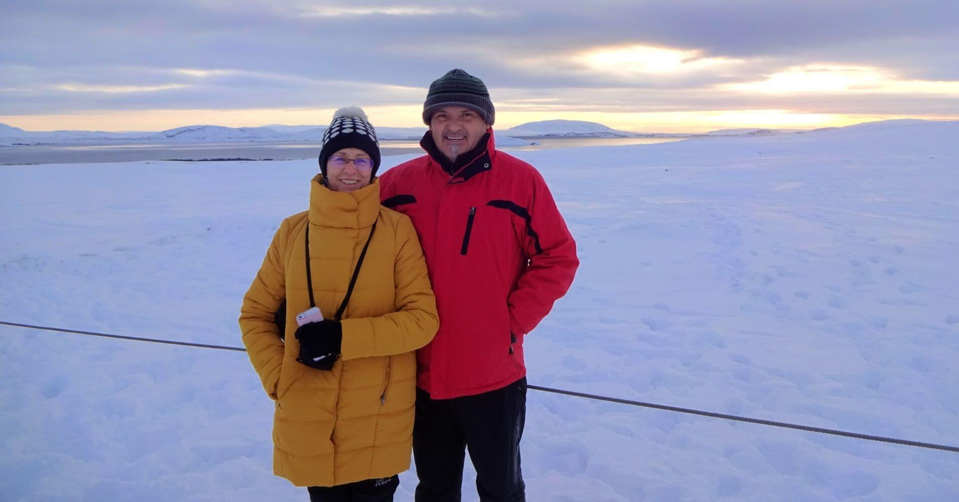 Parajes invernales islandeses.