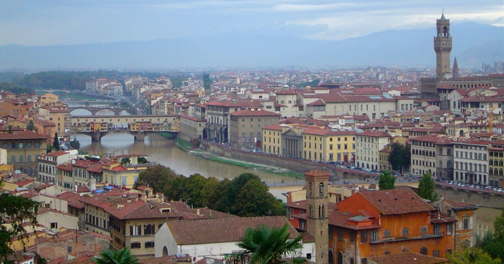 Vista desde el Parque San Michelangelo. Florencia, Toscana. Italia.