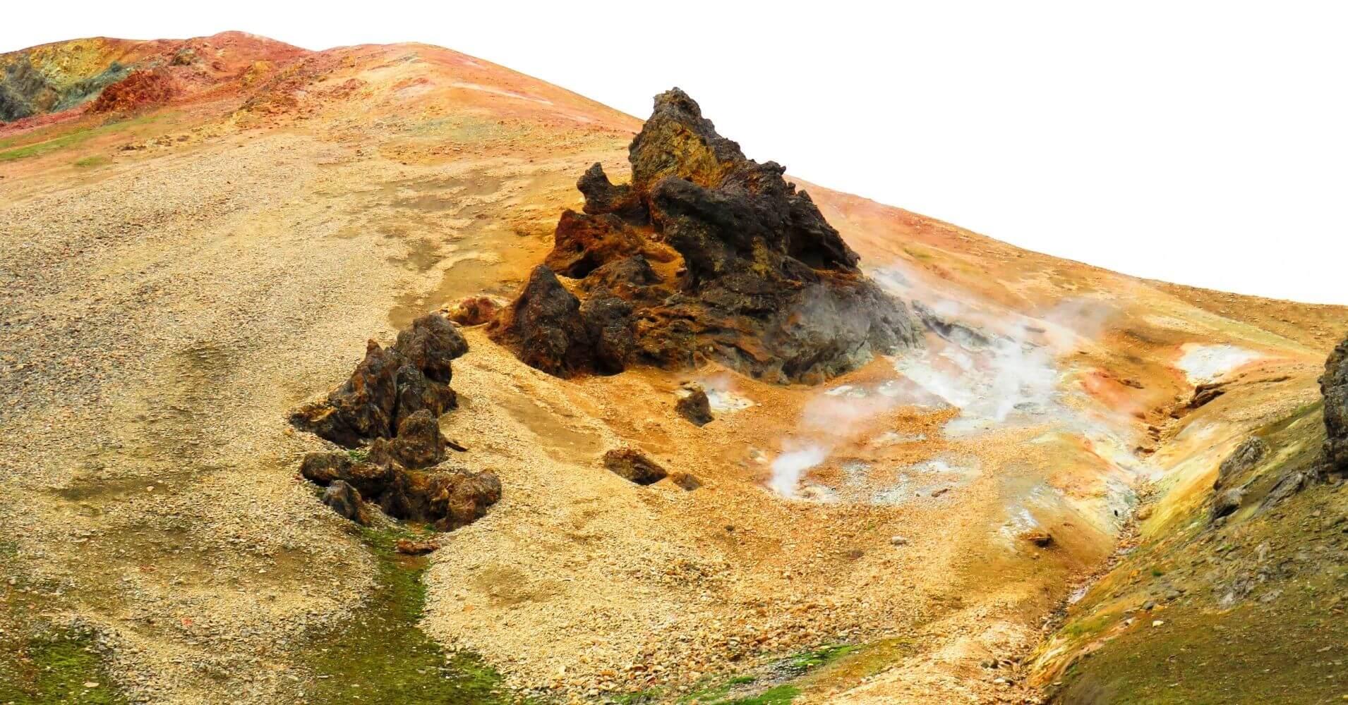 Volcán Hekla. Landmannalaugar Tierras Altas de Islandia.