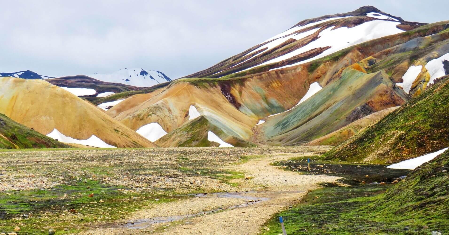 Volcanes de Landmannalaugar. Tierras Altas de Islandia.